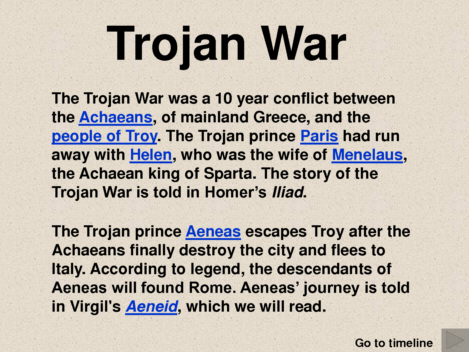Short essay trojan war