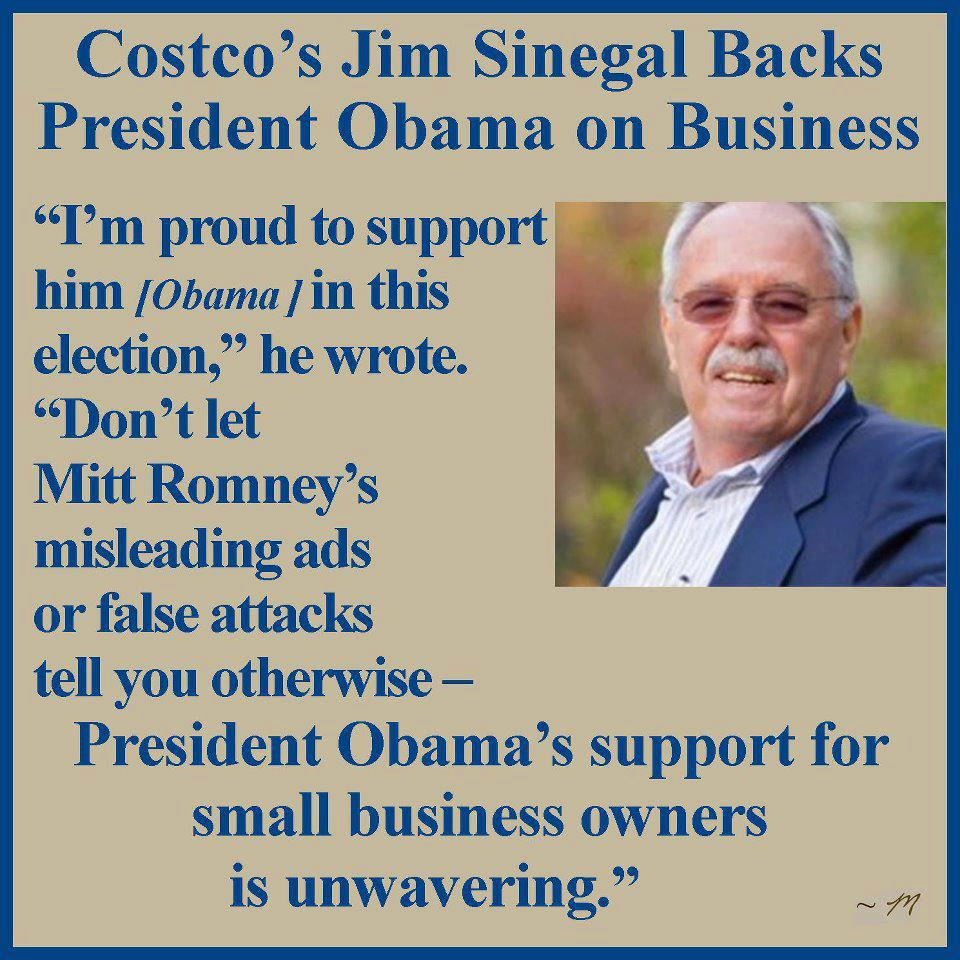 what core values or business principles is jim sinegal stressing at costco