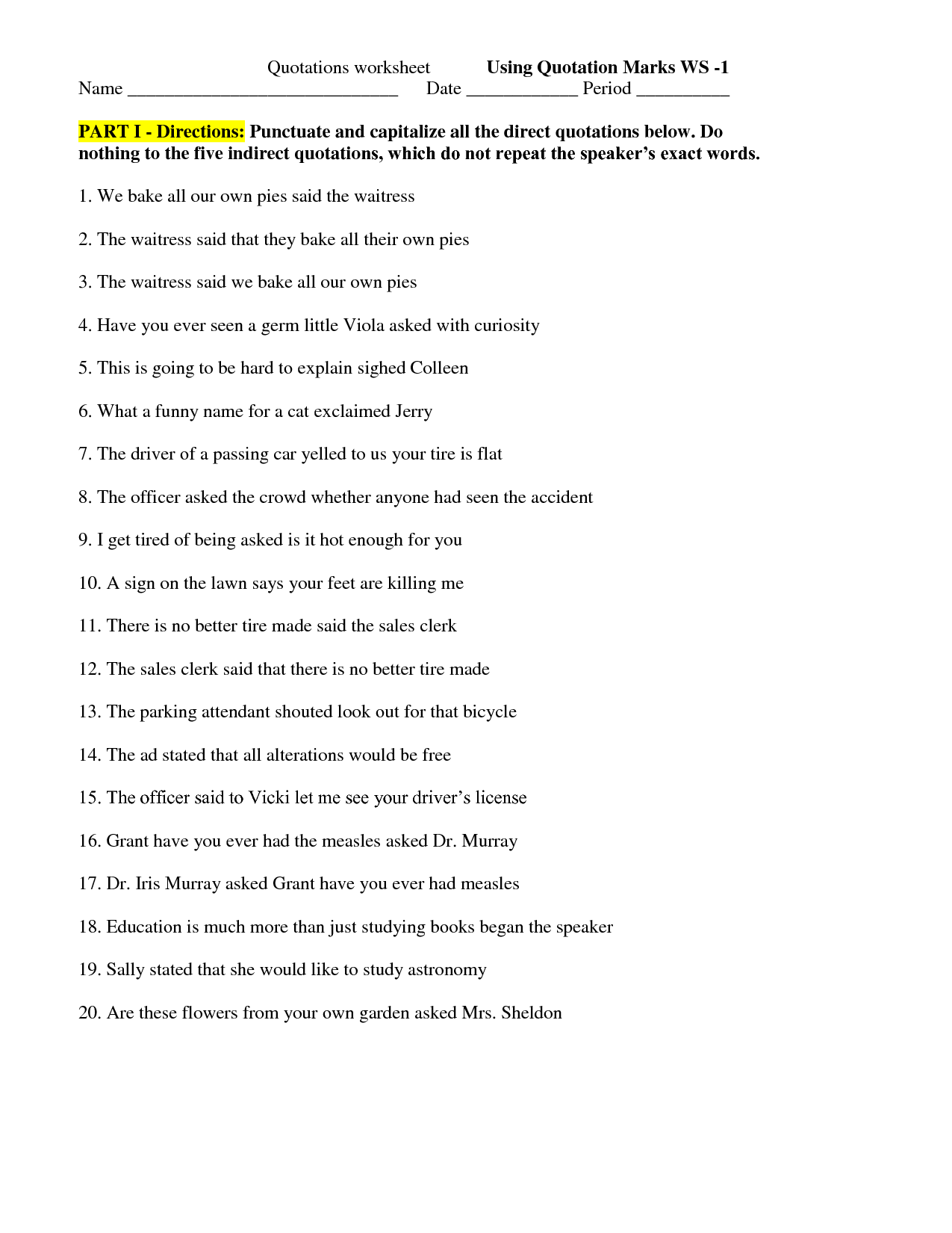 worksheet Punctuation Marks Worksheets quotations worksheet templates and worksheets quotation marks worksheetsworksheets
