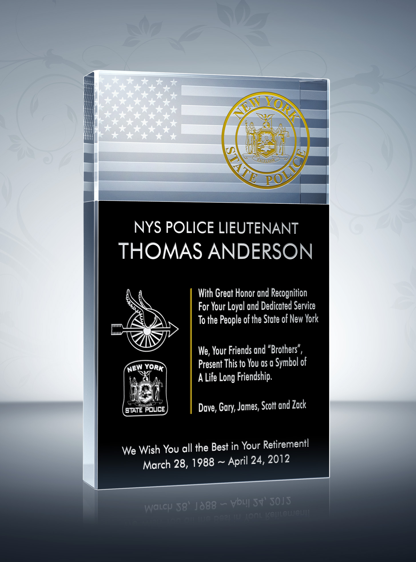 police retirement plaques quotes quotesgram