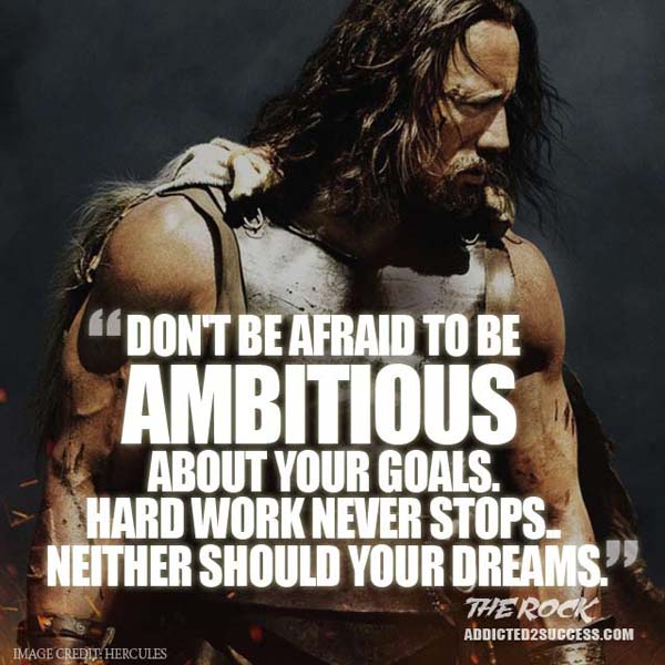 Famous Quotes About Dreams And Success: The Rock Success Quotes. QuotesGram