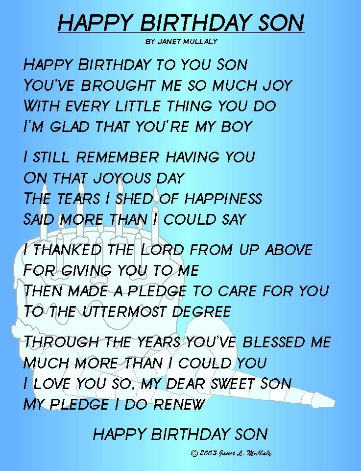 Happy 18th Birthday Son Quotes Quotesgram