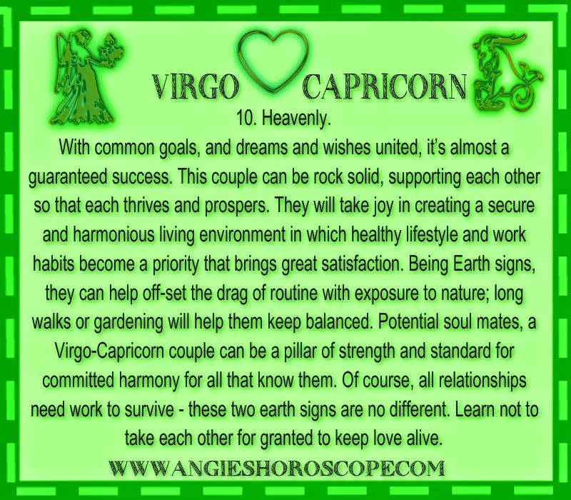 from Zayden capricorn woman dating a virgo man