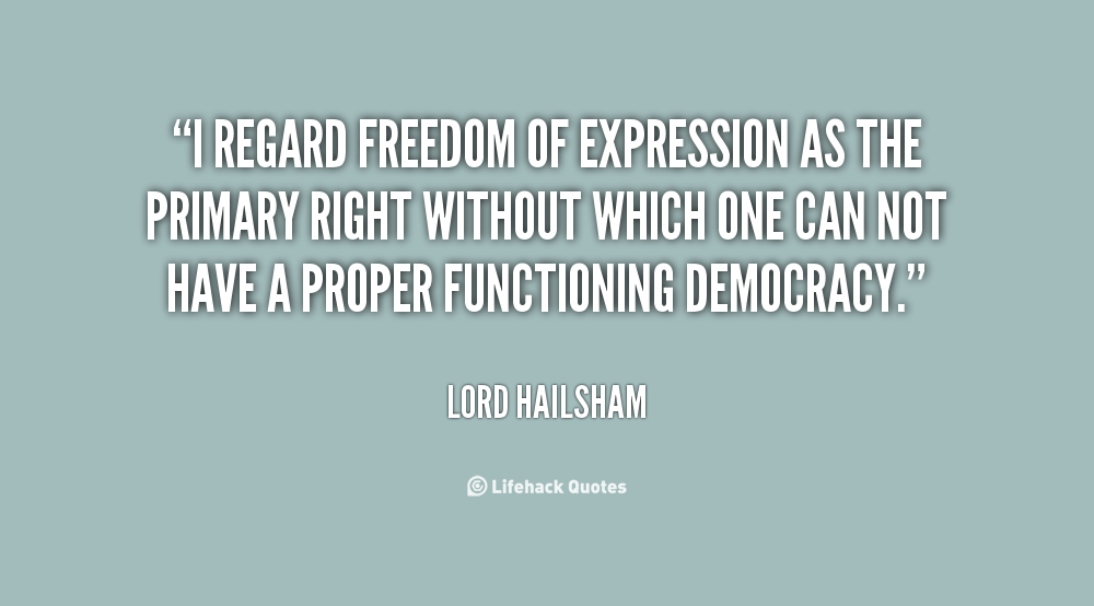 Freedom Of Expression Quotes. QuotesGram