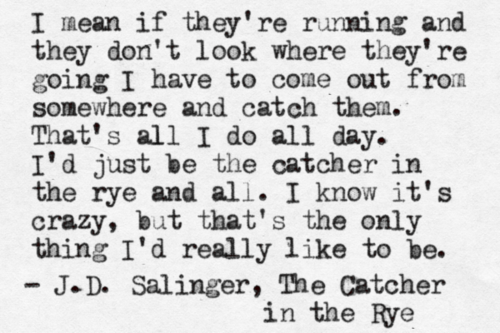 catcher in the rye nice to meet you