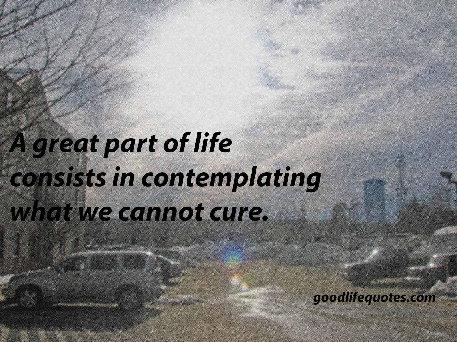 Contemplating Life Quotes. QuotesGram