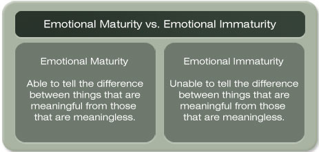 Maturity and immaturity quotes