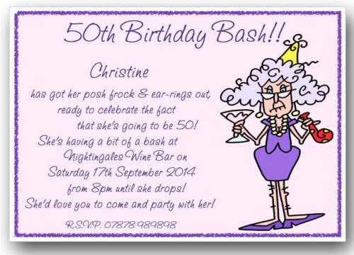 funny birthday quotes invitation