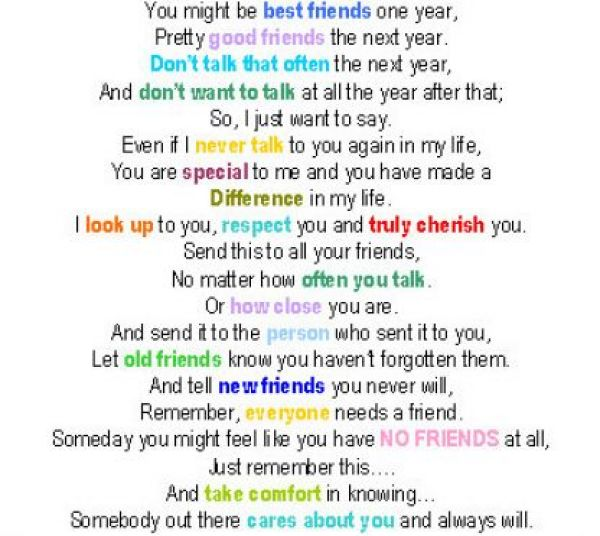Friends poems about rhyme best that Short Friendship