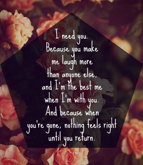 I Love You More Than Quotes: Quotes I Need You More. QuotesGram