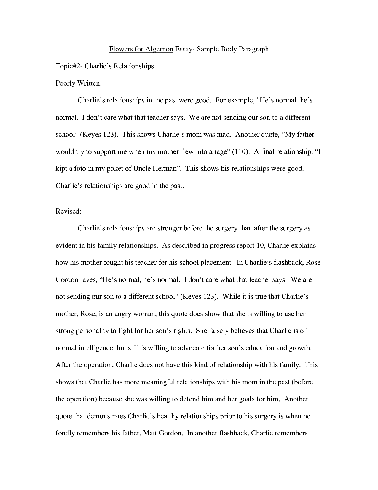 Examples of long quotes in an essay compare and contrast movie essay sample
