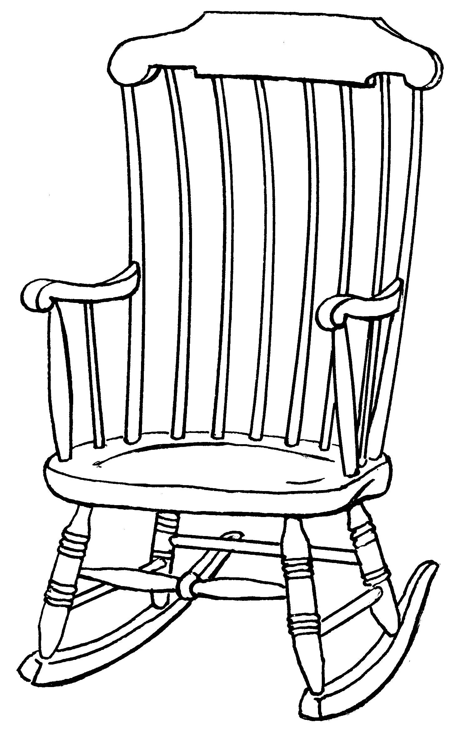 Line Drawing Chair : Rocking chair and grandchildren quotes quotesgram