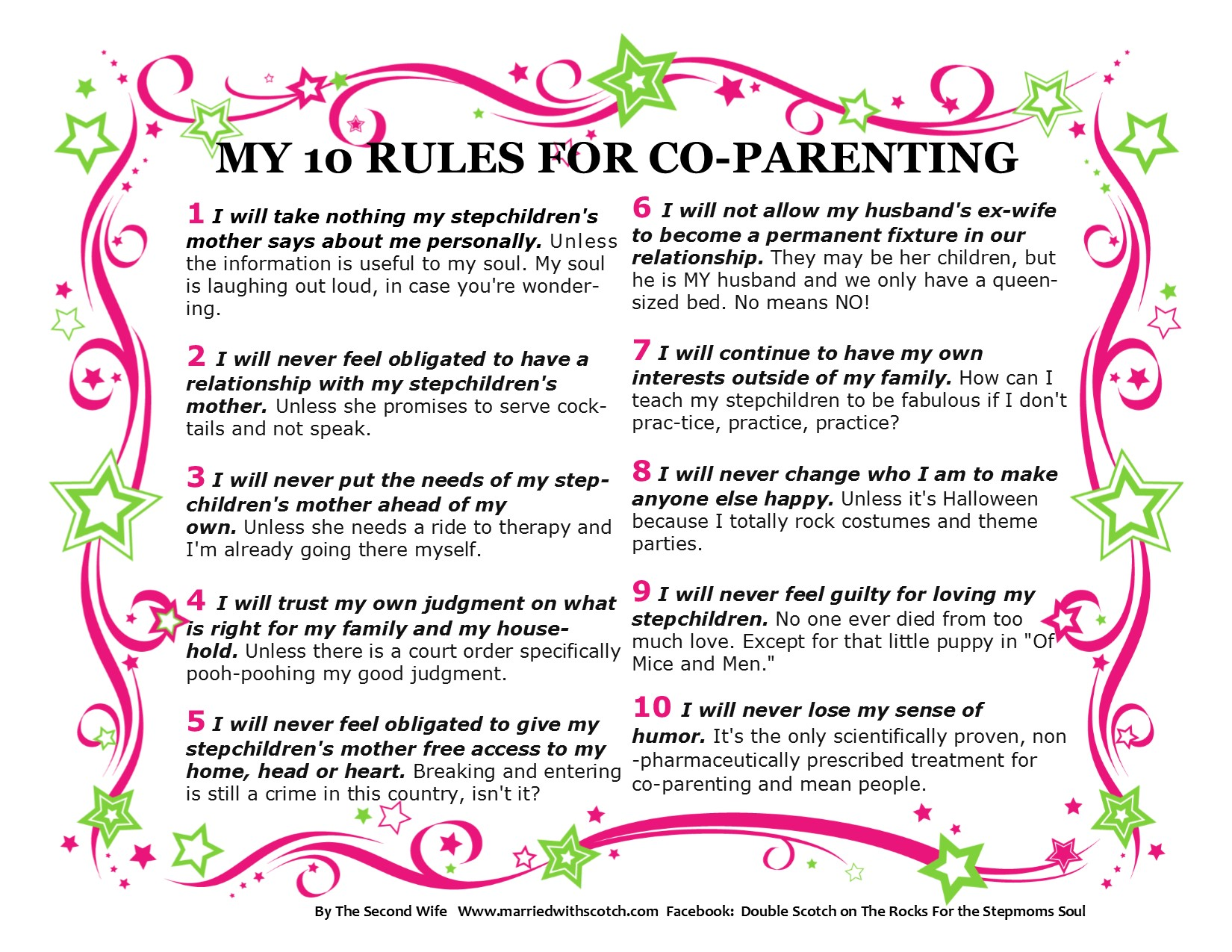 divorced parent dating rules Guidelines for divorced parents to live by  do tell your children divorce is not their fault keep in mind, they'll need to hear it more than once.