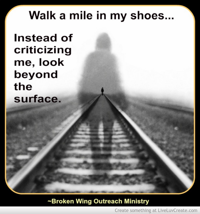 Walk A Mile In Their Shoes From