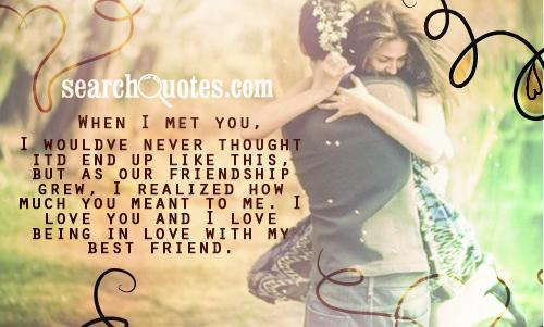 Love Quotes For Friends Falling In Love: Friends Falling In Love Quotes. QuotesGram