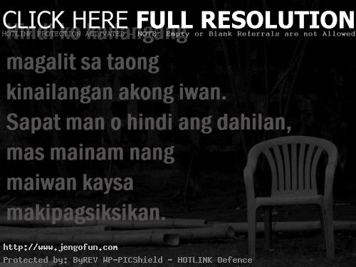 Sad Quotes About Love Tagalog Version : New Tagalog Sad Love Quotes. QuotesGram