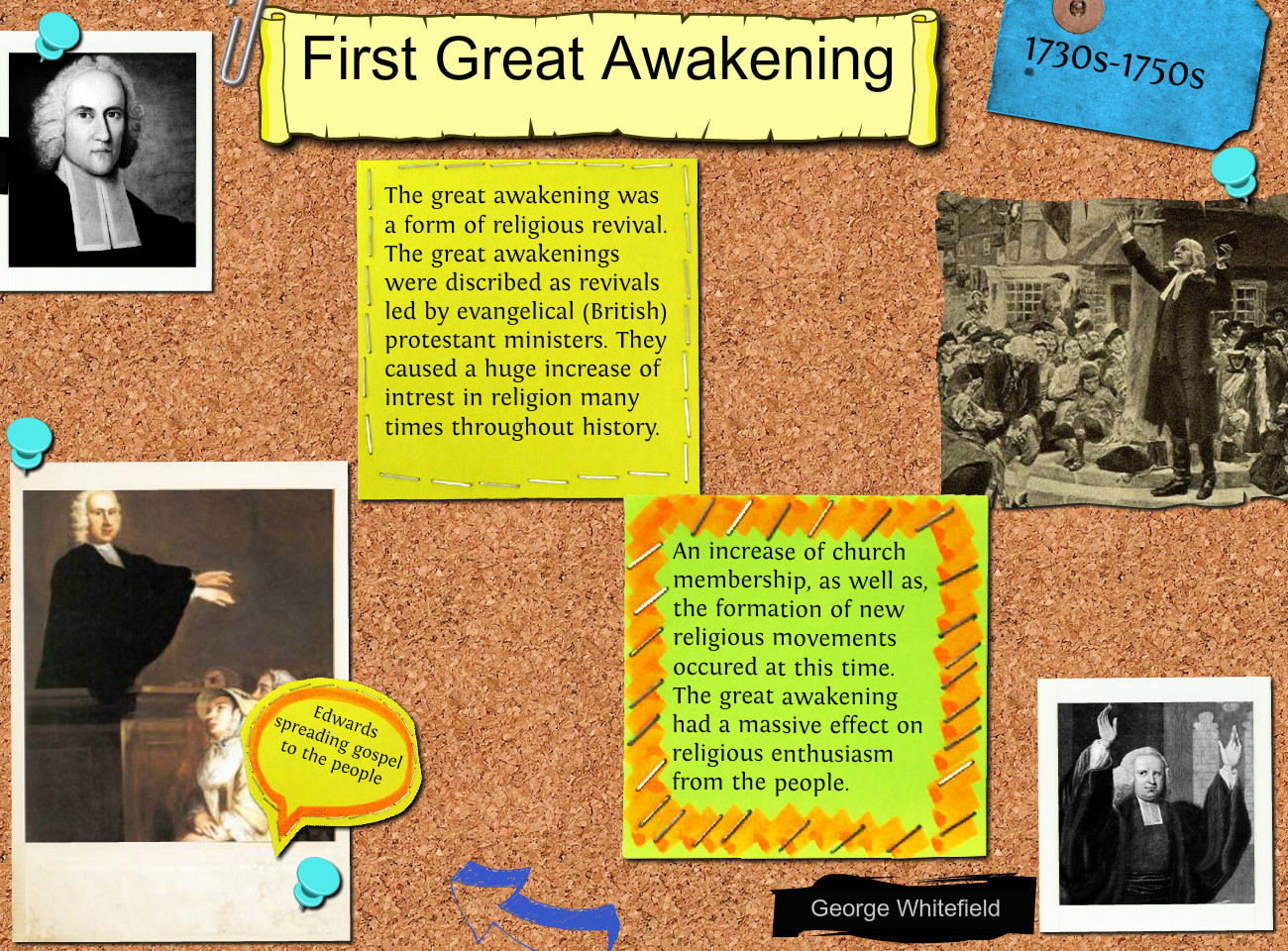 second great awakening The 2nd great awakening sparked interest that the individual could control their  destiny  as a result of the second great awakening (a series of revivals in the.