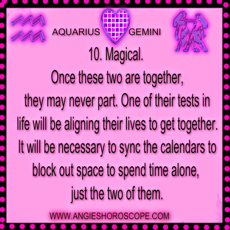 Gemini - Aquarius Love Compatibility