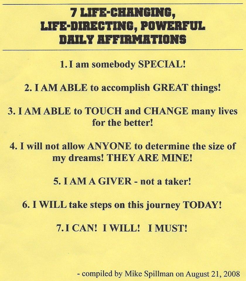 Positive Affirmations Quotes Quotesgram