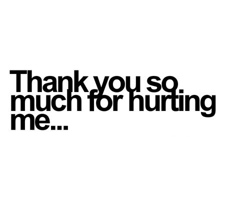 For me you thank hurting Thank You
