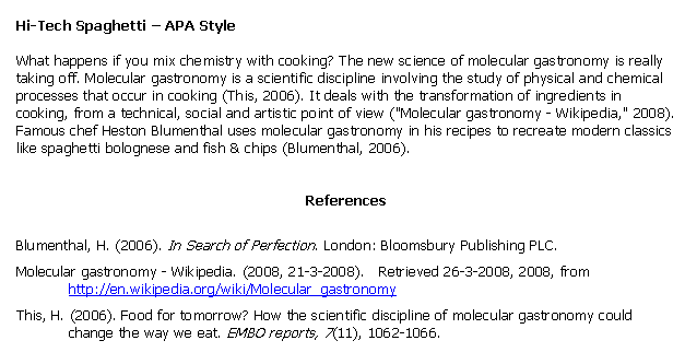 examples of citations in apa format See some apa format citation/apa style citation examples below apa format citations examples: author's name in parentheses.