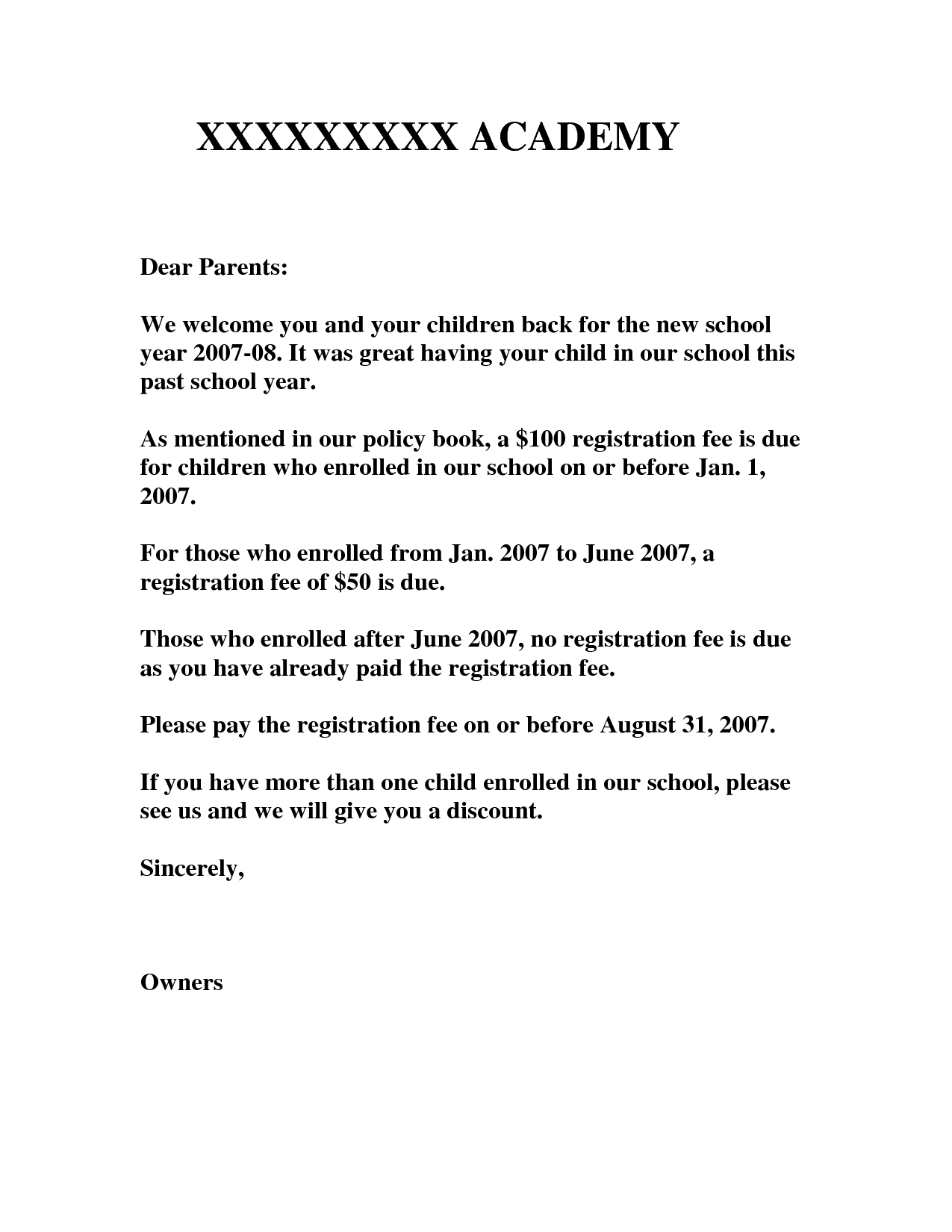 Preschool Welcome Letter To Parents From Teacher Template from cdn.quotesgram.com