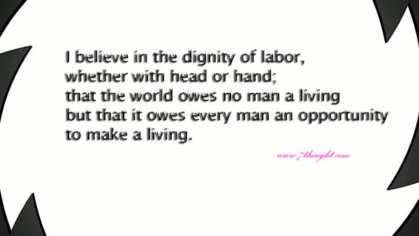 dignity of labor essay