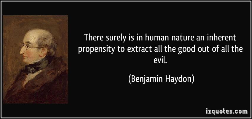 Essay on human nature good or evil