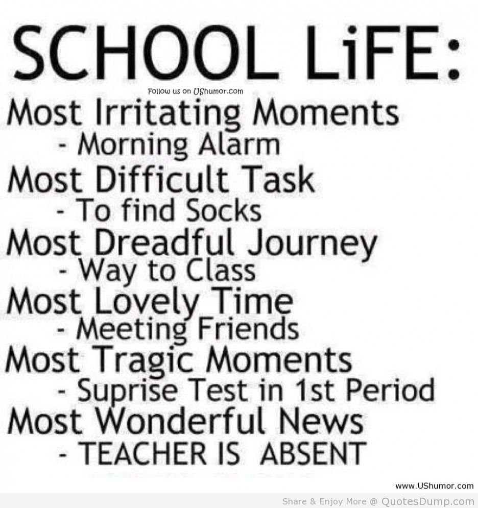 Funny Quotes About School Days: Quotes About Missing School Days. QuotesGram