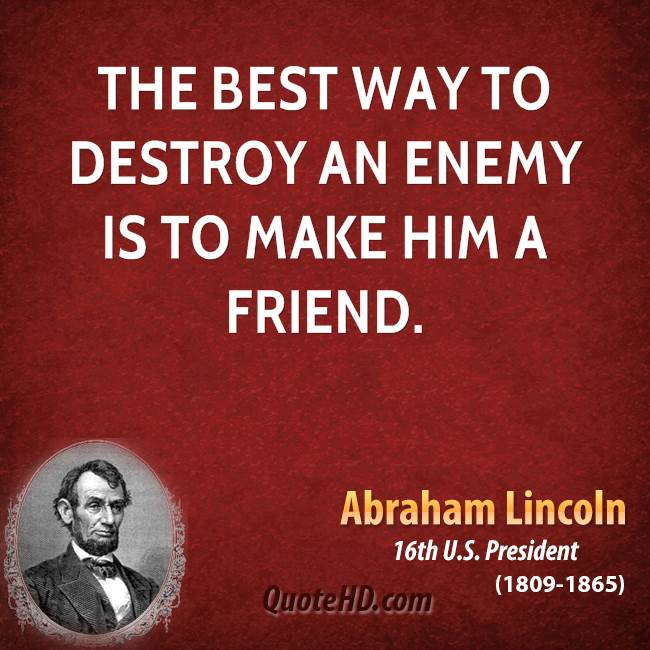 Picture Abraham Lincoln Quote About Enemy: Abraham Lincoln Quotes About Veterans. QuotesGram