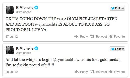 K Michelle And Ryan Lochte Tweets Ryan Lochte Interview ...