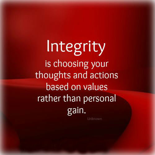 on personal integrity quotes  quotesgram