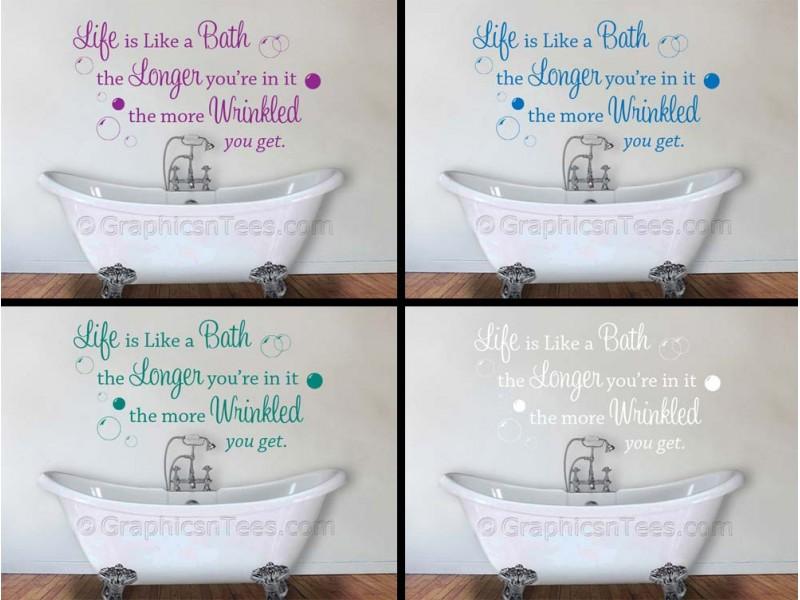 Baths quotes quotesgram for Bathroom decor quotes
