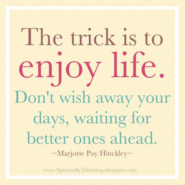 Enjoy Life Quotes: Happiness Quotes About Enjoying Life. QuotesGram