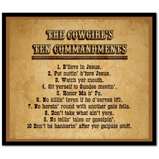 10 Commandments Movie Quotes: Cute Cowgirl Sayings And Quotes. QuotesGram