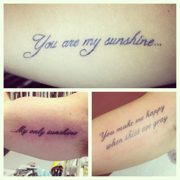 Tattoo Dedicated To Parents Quotes Quotesgram