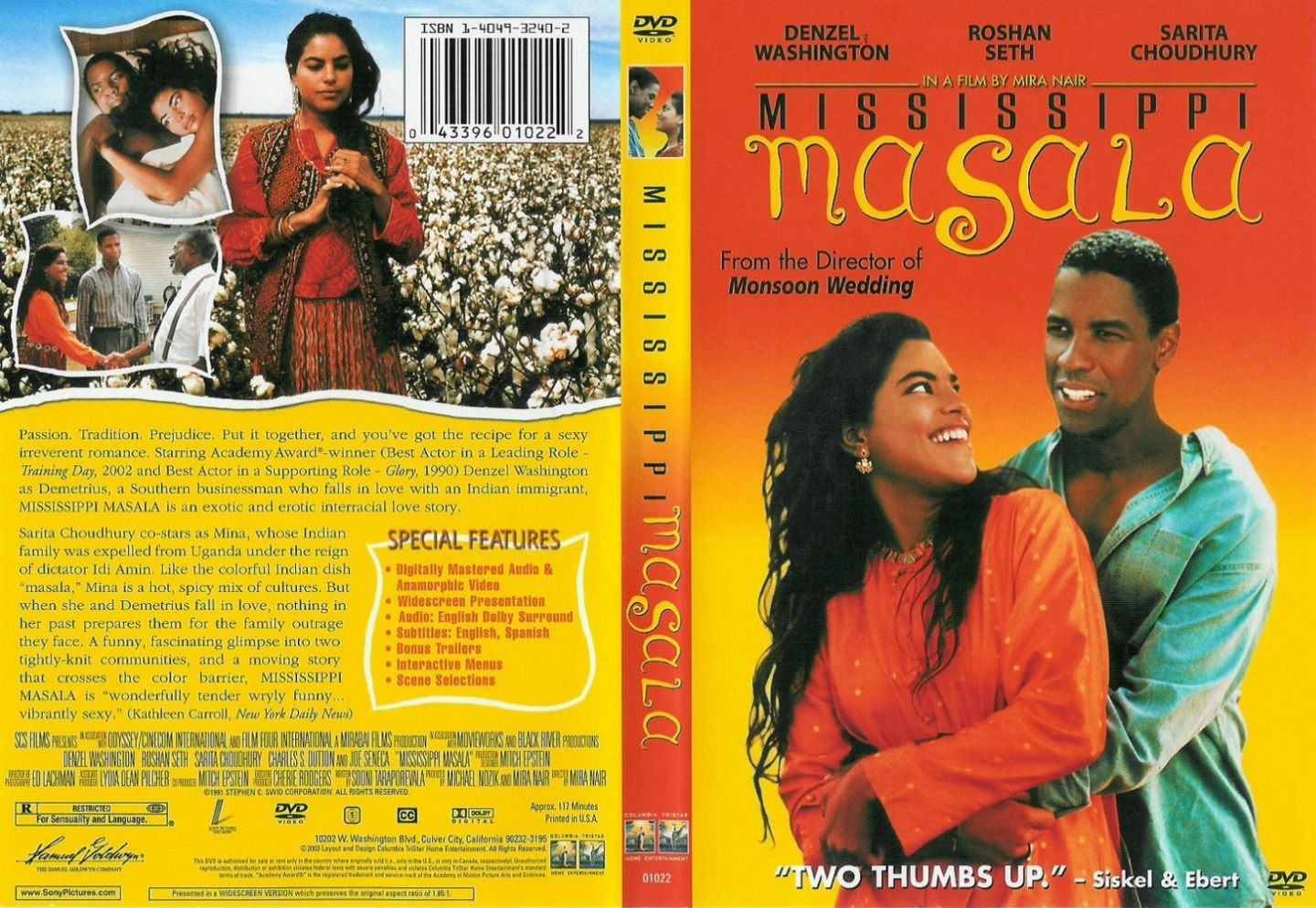 mississippi masala Mississippi masala is a 1991 romantic drama film directed by mira nair , based upon a screenplay by sooni taraporevala , starring denzel washington , sarita choudhury , and roshan seth .