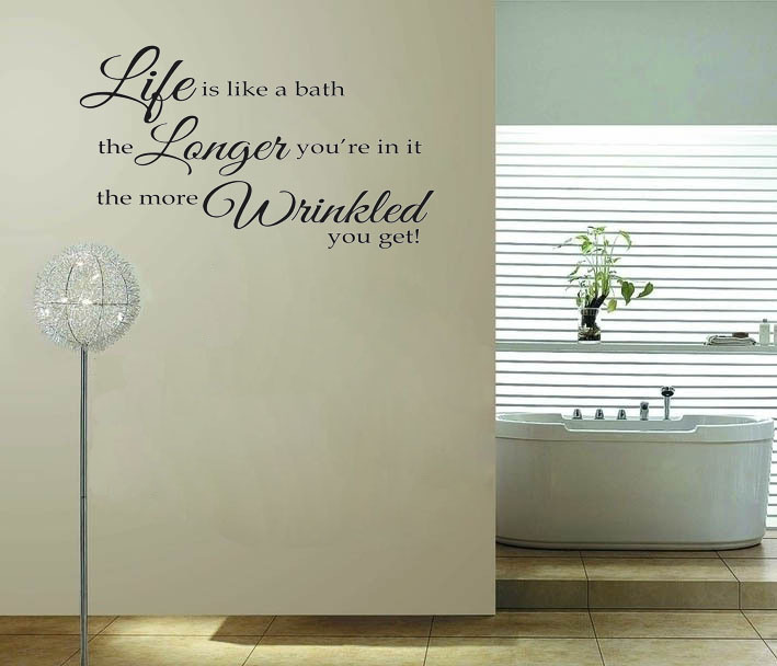 Bathroom office quotes quotesgram for Bathroom wall decor quotes