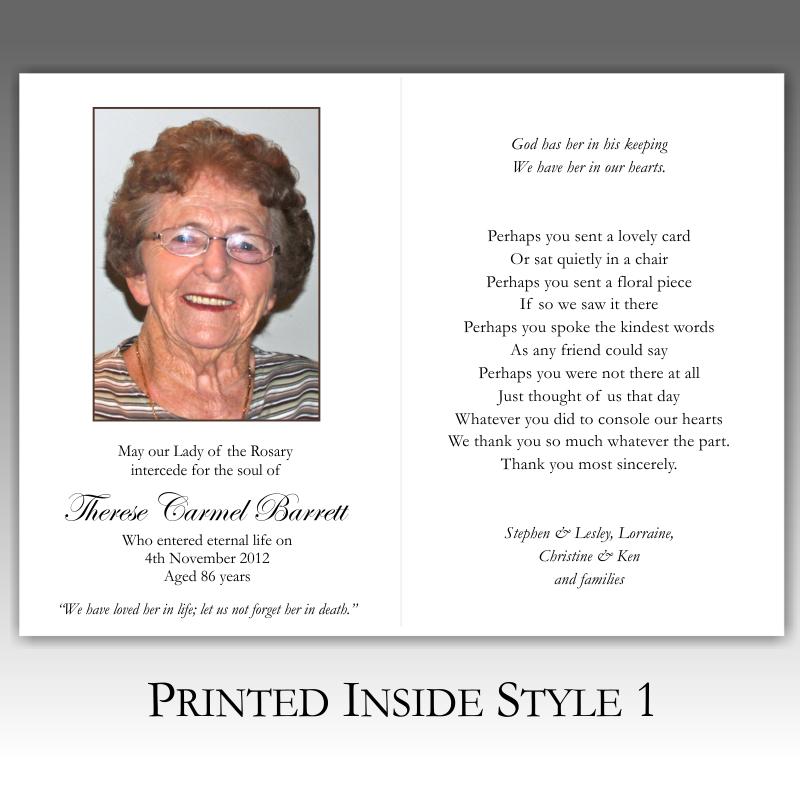 Memorial Card Quotes For Funerals Quotesgram