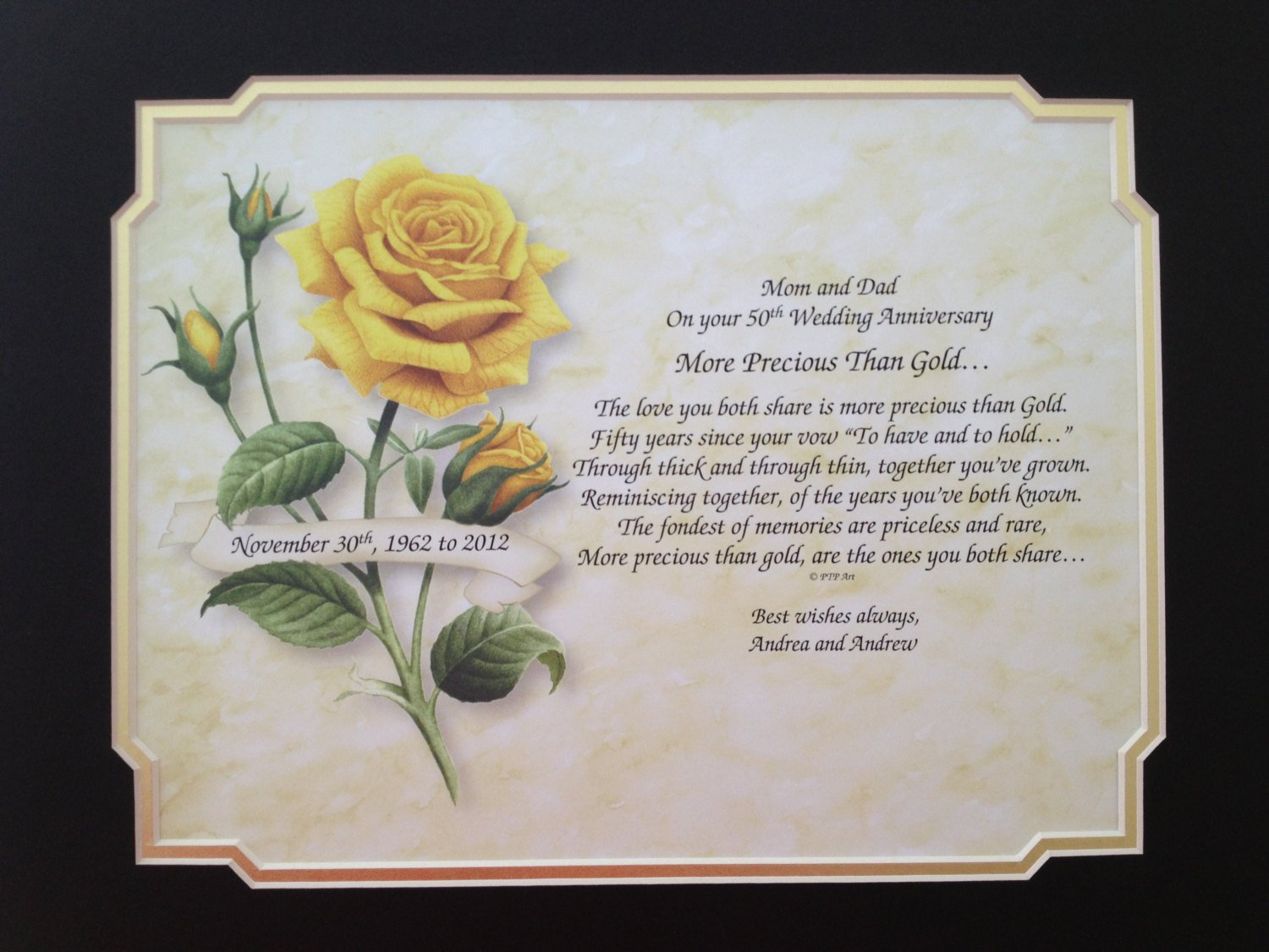 Anniversary Quotes: 50th Wedding Anniversary Quotes And Poems. QuotesGram
