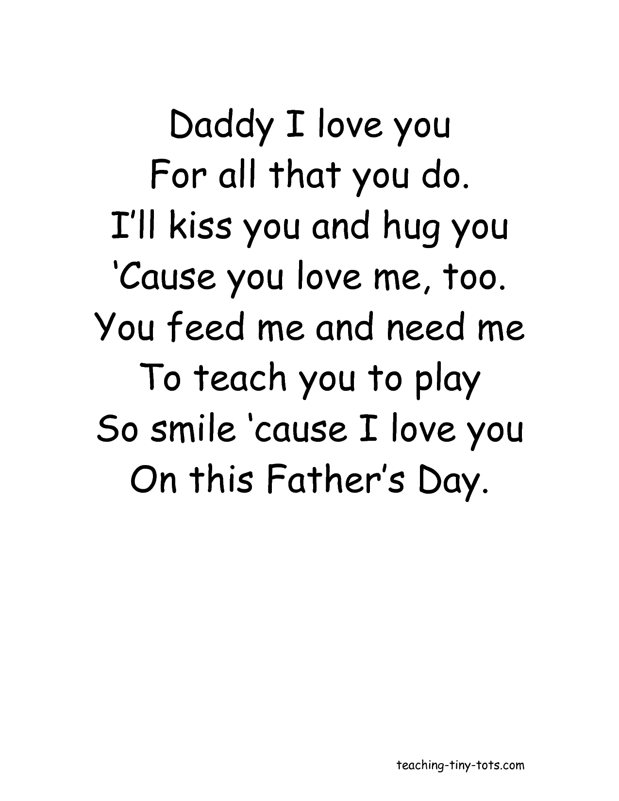 I Love Daddy Quotes Quotesgram