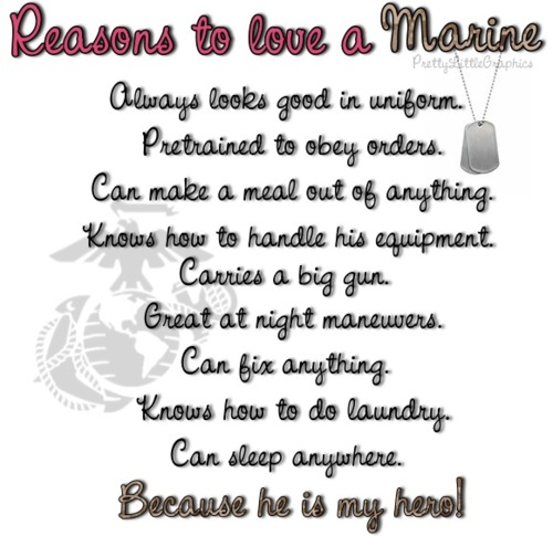 quotes about dating a marine How do you deal with a significant other who's my boyfriend and i have been dating for he has told me before he's considering the marines.