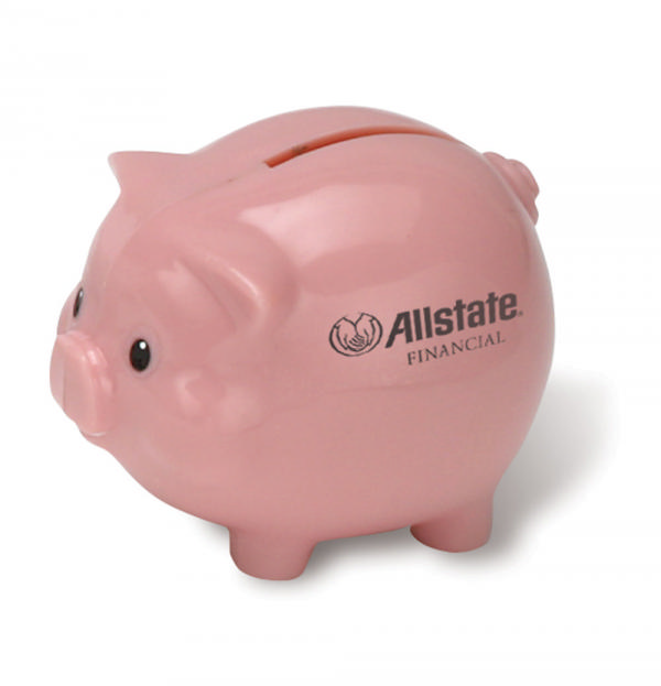 Funny out of money piggy bank pop graphic urban cool modern lifestyle greeting card by untagged