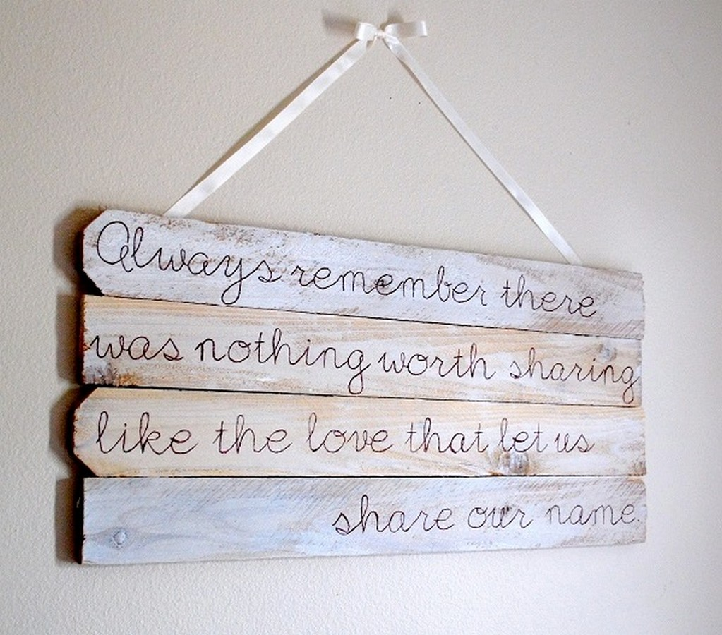 Quotes on wood art quotesgram for Decoration quotes sayings