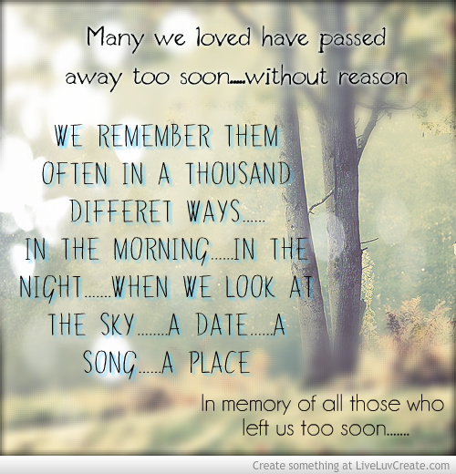 Famous Quotes About Death Of A Loved One: Quotes About Memories Of Loved Ones. QuotesGram