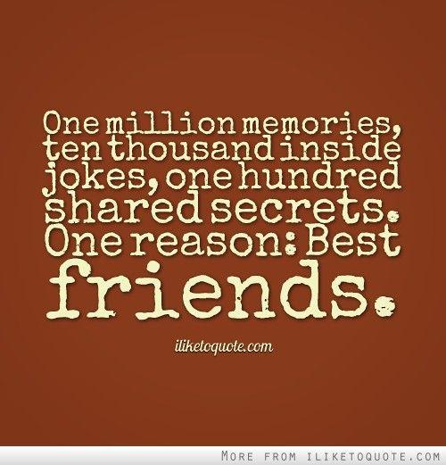 Friends Humor Quotes: Sharing Memories Friends Quotes. QuotesGram