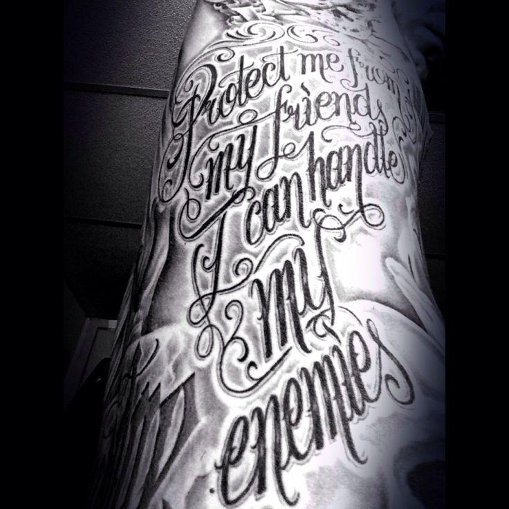 Kendrick Lamar Arm Tattoos Lowrider Gangsta Quote...