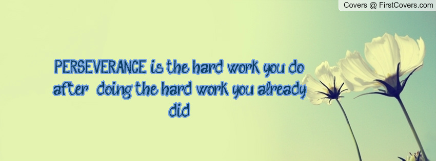 Persistence Quotes For Work: Hard Work Perseverance Quotes. QuotesGram
