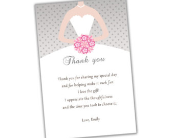 Bridal Shower Thank You Card Wording For Co Workers : Bridal Shower Thank You Quotes. QuotesGram
