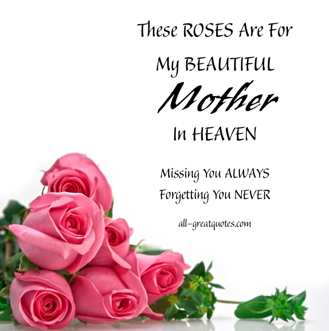 Happy Birthday Mother Quotes In Memory Quotesgram